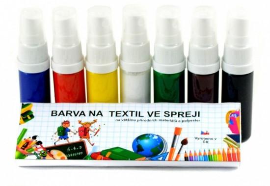 Barvy na textil ve spreji - sada - 7 x 20 g - KST720