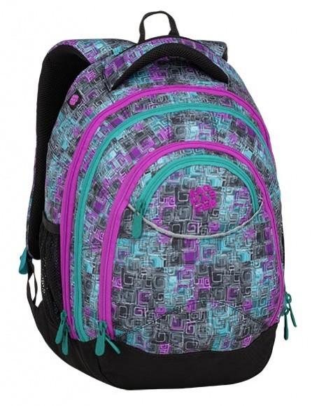 Studentský batoh Bagmaster Energy 9 C Violet / Green / Gray + Pero Frixion ZDARMA
