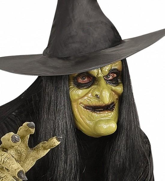 Maska čarodějnice, latexová - dospělá velikost - W 00459