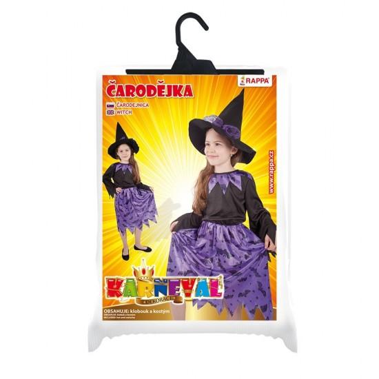 Karnevalový kostým - Čarodějnice - fialový - Vel. S - 694835