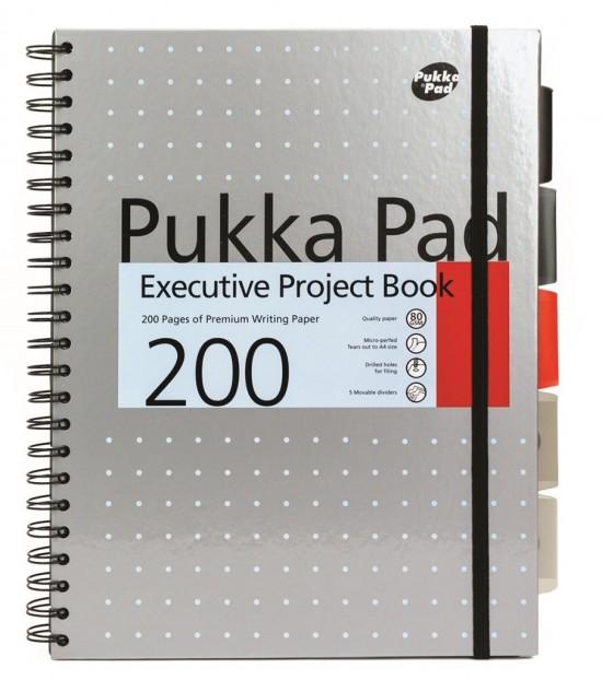 Reas Pack Projektový blok Pukka - Metallic A4 - 80g - 100 listů - šedý - 6970-MET/S