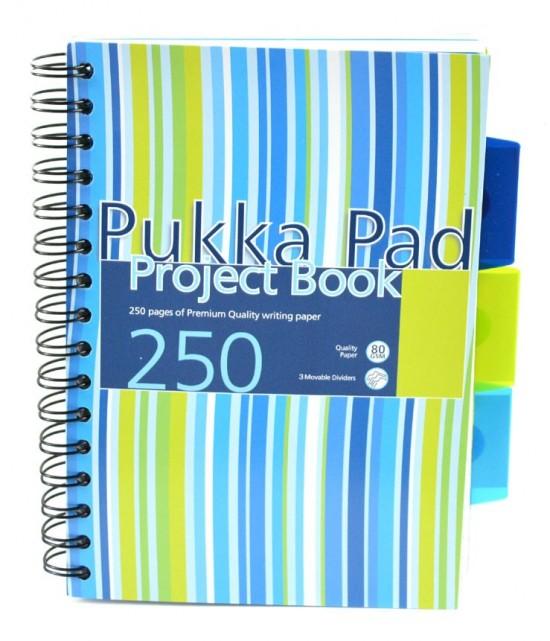 Reas Pack Projektový blok - Pukka - A5 - 100 listů - proužky - modrá, zelená - PROBA5