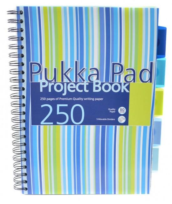 Reas Pack Projektový blok - Pukka - A4 - 100 listů - proužky - modrá, zelená - PROBA4