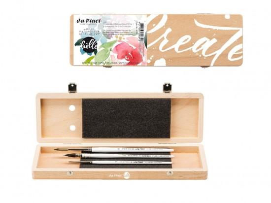 Sada štětců da Vinci pro dámy - Květinová ve dřevěné krabičce 4199