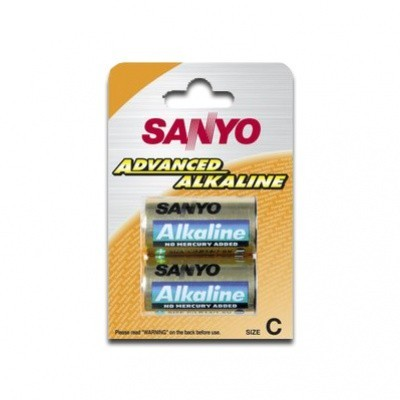 Baterie alkalická C Sanyo