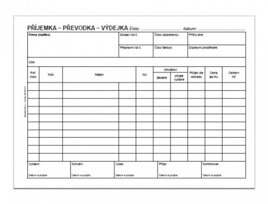Baloušek Příjemka - převodka - výdejka A5 propisující PT235