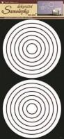 Pokojová dekorace - Kruhy bílé - 1331