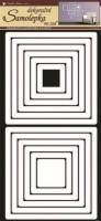 Pokojová dekorace - Čtverce bílé - 1332