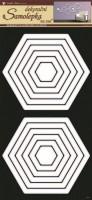 Pokojová dekorace - Šestiúhelníky bílé - 1333