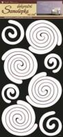 Pokojová dekorace - Spirály bílé - 1334