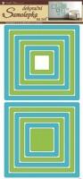 Pokojová dekorace - Čtverce zelenomodré - 1336