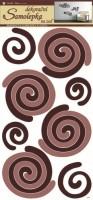 Pokojová dekorace - Spirály béžovohnědé - 1338