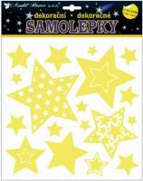 Samolepky svítící ve tmě - Hvězdy - 10265