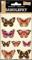 Samolepky - Motýli skuteční s 3D křídly 10196