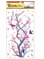 Pokojová dekorace větev šedorůžová 60 x 32 cm - 638