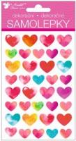 Samolepky 3D Srdce s glitry 15022