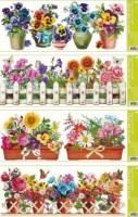 Okenní fólie - květiny - pruh - 877