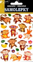 Samolepky - Opičky - 10197