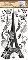 Pokojová dekorace černá Eiffelovka - 1349