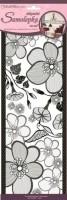 Pokojová dekorace velké květy 15,2 x 40,6 cm - 1395