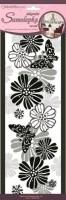 Pokojová dekorace motýli a květiny 15,2 x 40,6 cm - 1394