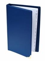 Vizitkář kroužkový s rozlišovačem (A -Z) - modrý - na 80 vizitek