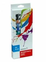 Akrylové barvy Edelweiss 12 ks - 12 ml - 9711395