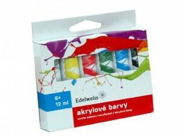 Akrylové barvy Edelweiss 6 ks - 12 ml - 971401
