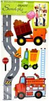 Samolepka na zeď -  metr - silnice s auty - 10098