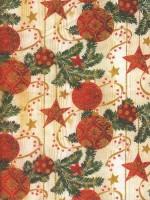 Vánoční papír - Červeno-zlaté hvězdičky č.5 - Lika - 150 ks