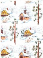 Vánoční papír - Zimní kaplička  č.6 - Lika - 150 ks