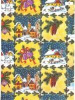 Vánoční papír - Chalupa se zvonky  č.9 - 150 ks