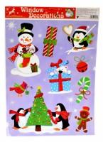 Okenní fólie - vánoční, barevné  201