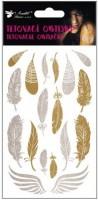 Tetovací obtisky - zlaté a stříbrné 15 x 9 cm - 1170