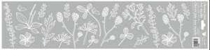 Okenní fólie - pruhy bílé - 64 x 15 cm - 6838