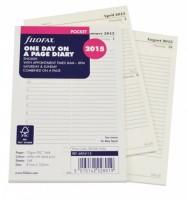 Kalendář Filofax kapesní 2015 - den / 1 strana.