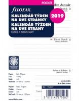Kalendář Filofax kapesní - týden / 2 strany 2019 - 682119