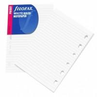 Náplň Filofax - Kapesní - linkovaný papír bílý