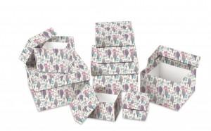 Dárková krabice - set H - krychle, 8 ks - 501204