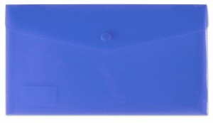Desky s drukem a klopou DL modré