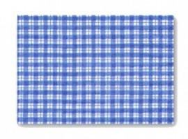 Ubrus na výtvarnou výchovu - modré káro, PVC