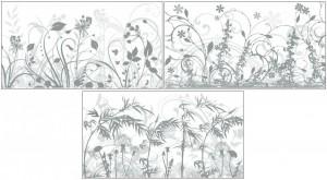 Okenní fólie - stínící s travinami a mléčným podkladem - různé motivy - 885