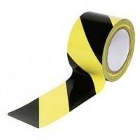 Lepicí páska 50 mm x 66 m - žluto-černá