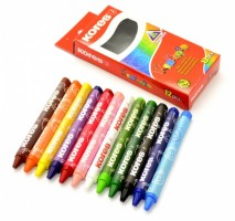 Voskovky Kores Regular trojhranné 12 barev