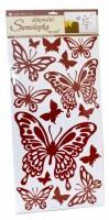 Samolepka na zeď - hnědí motýli - 10037