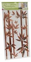 Samolepka na zeď - Bambus hnědý - 10039