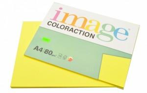 Kancelářský papír Image Coloraction A4 - 80g/m2, středně žlutá - 100 archů