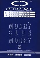 Uhlový papír A4 modrý 25 listů