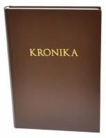 Kronika A4 200 listů - hnědá - Resko