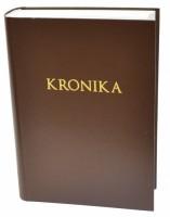 Kronika A4 400 listů - hnědá - Resko